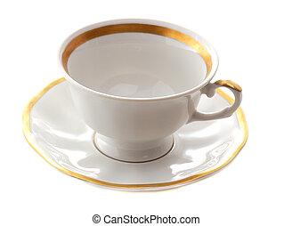 teacup - empty white teacup