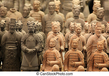 famous terracotta warriors in XiAn, Qin Shi Huangs Tomb,...