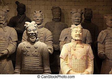 The famous terracotta warriors of XiAn, Qin Shi Huang's Tomb, China