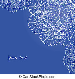 Background with lace ornament and space for your text....