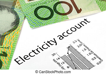 Electricity Account with Australian Money - Electricity...