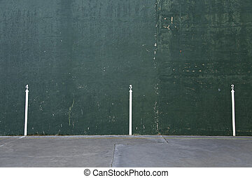 Fronton wall in La Rioja, sport space