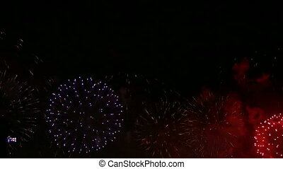 Firework exploding in the sky.