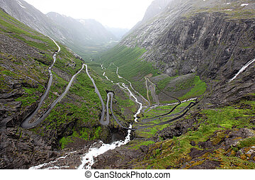 Road of the Trolls in Norway Mt