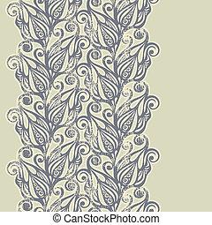Floral design border in vintage style