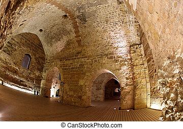Classic Israel - Acre also Akko knight templar castle in...