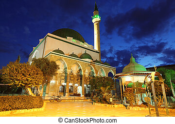 Classic Israel - Mosque of Al-Jazzar in Acre also Akko in...