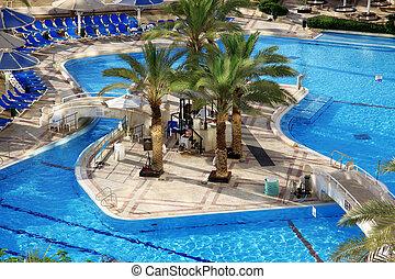 detalle, natación, piscina, balneario, recurso,...