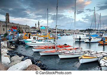 Classic Israel - old town and port in Acre also Akko in...
