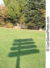 ombre de panneau de signalisation