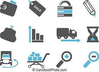 Internet icons - Internet and website icons. Vector set