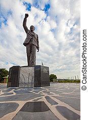 Nelson, Mandela, estátua