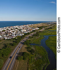 Aerial view of Massachusetts coast - Aerial view of the...