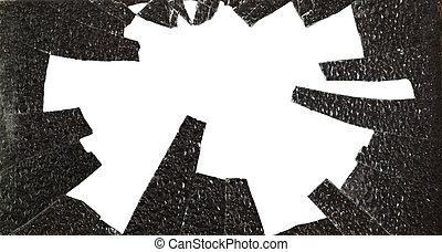 broken glass isolated on white