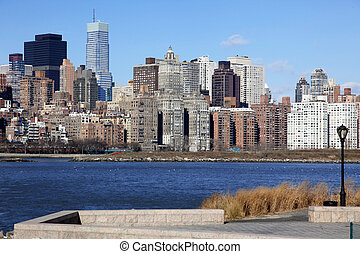 classical NY - long island, view to Manhattan