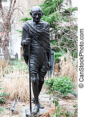 monument of Mahatma Gandhi in NY