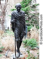 monumento, Mahatma, Gandhi, NY