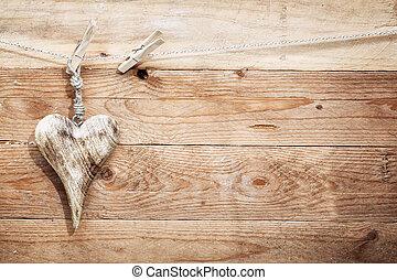 Beautiful rustic wooden heart - Beautiful romantic rustic...
