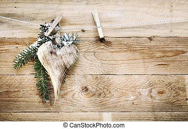Elegant wooden Valentines heart - Elegant wooden Valentines,...