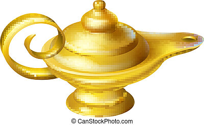 Oil Lamp - Illustration of an old fashioned Oil Lamp like...