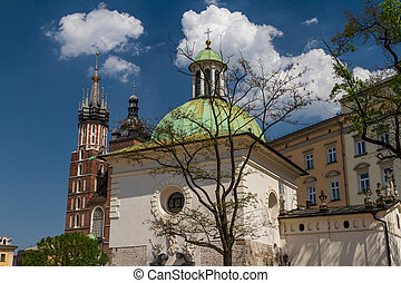 st James Church on Main Square in Cracow, Poland