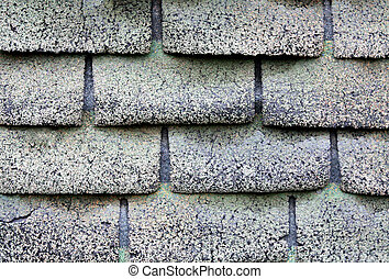 Texture of roof with old shingles - Texture of roof with old...