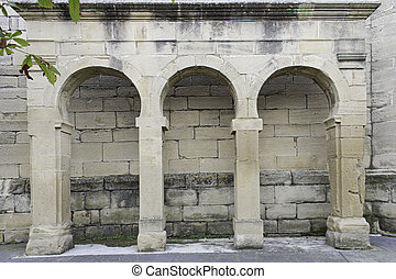 Arches architectural - Architectural arches built of stone,...