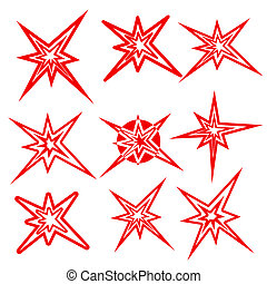 Lightning symbols. vector set