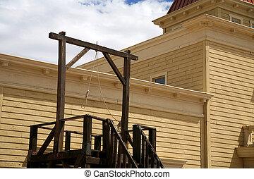 vintage USA gallows in wild west