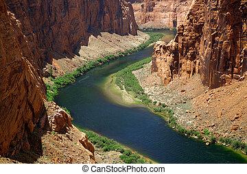 Cañada,  América,  Colorado, clásico, dique, naturaleza,  -, Cañón, cierre, río