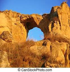 Arch in Ring mt at city of Kislovodsk, Northern Caucasus