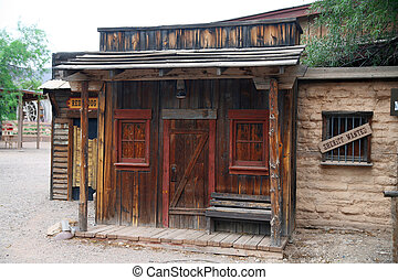 vintage sheriff house  in wild west