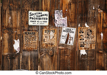 old wanted poster 18xx years, Arizona, USA