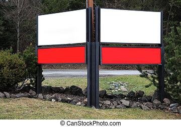 empty advertising board