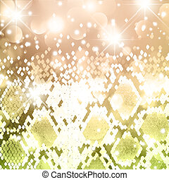 Snake New Year Background - Abstract Holiday Bright Snake...