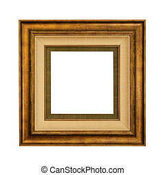 Picture Frame - Retro Picture Frame Over The White...