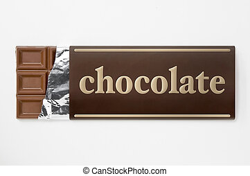 Paper package of chocolate Fictitious brand