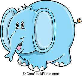 Cute Safari Elephant Vector