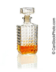 Stoppered whiskey decanter - Stoppered whiskey or brandy...