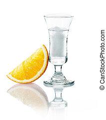 gin,  vodka, ou, rochers