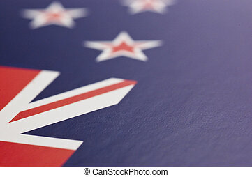 Flag of New Zealand - The national flag, close-up