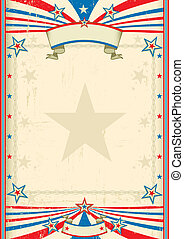 American cool frame - A tricolor background with a large...