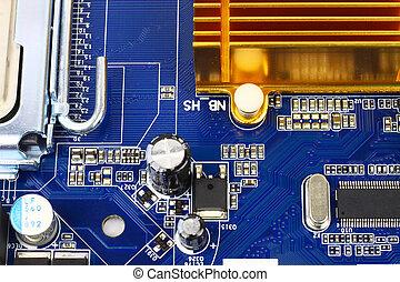 Hi-tech computer hardware - Digital hardware closeup...