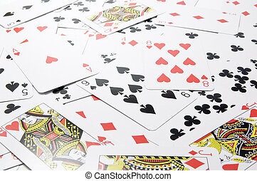 playing card - Several playing card, background image.