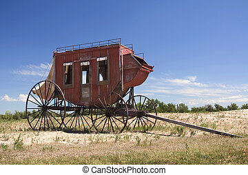 Old Wagon - The old wagon is widely used for transporation...