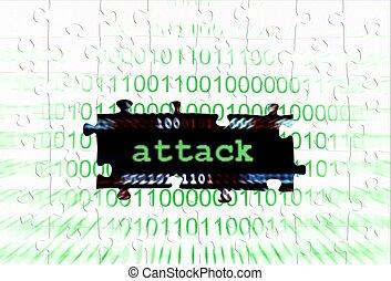 Attack puzzle concept