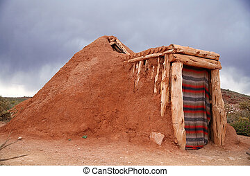 Hogan -Navajo native indian house