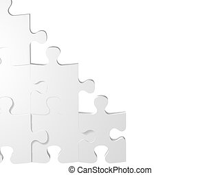 puzzle wall - puzzle pieces, metaphoric image applicable to...