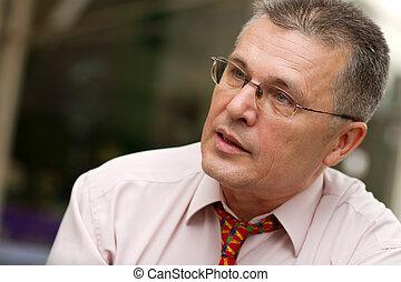 Portrait of senior businessman - Portrait of respectable...