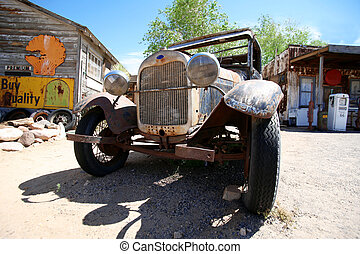 vintage ford, road 66, Arizona, USA